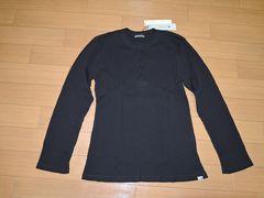 新品リベリオンrebellionカットソー2黒ワッフルロンTシャツAKM