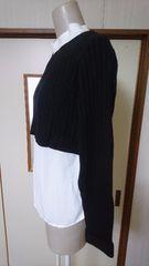 新品未使用 ローリーズファーム  黒のニットとシャツのセット