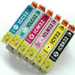 エプソン 互換インク IC32系(IC6CL32) 6色セットx15セット