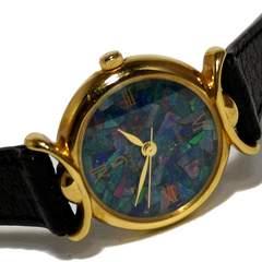良品【七宝焼き?】design Time ローマ数字 腕時計
