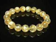 運気を上昇させるキーマン タイチンルチルブレスレット 10mm天然石数珠