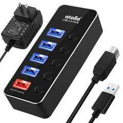 USB3.0ハブ アルミニウム USBハブ 4ポート