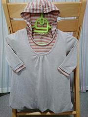 即決★半額以下★ラス1★グローバルワークキッズ★フード付長袖Tシャツ