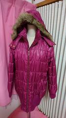 未使用大きいサイズ3L ラズベリーピンク ロングダウンジャケット