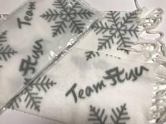 浜崎あゆみフリースマフラー 新品、未開封、モコモコ雪模様