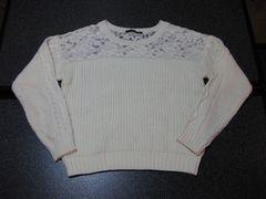 新品 INGNI イング 長袖 ケーブル セーター ニット ホワイト