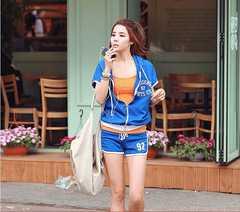 NEW★カジュアルランニング上下スーツ★ブルー