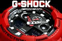 送料込 G-SHOCK CASIO カシオ 1/1000秒クロノデジアナRD新品