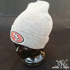 NFL サンフランシスコ 49ers ニットキャップ ビーニー グレー335