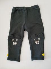 深緑のむじにひざクマ模様のズボン90