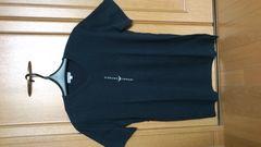 激安75%オフ限定、EA、エンポリオ・アルマーニ、Tシャツ(美品、黒、日本製、M〜L)