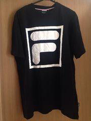 送料無料 メンズ 大きいサイズ 4L Tシャツ 半袖 FILA ロゴ 黒