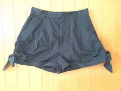 SLYスライ☆裾結び可愛いショートパンツ☆美品 黒 サイズ2