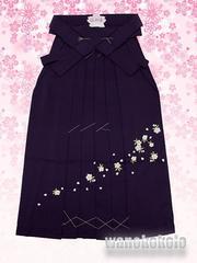 【和の志】卒業式に◇女性用無地刺繍袴◇Mサイズ◇紫系