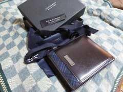 ブラックレーベル 本革製二折財布・中古
