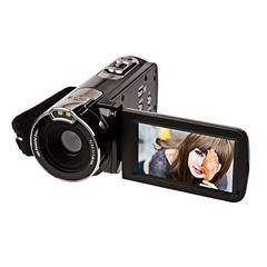 高性能 フルHD デジタル ビデオカメラ ブラック