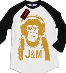 ☆送料無料☆新品sale!J&M『モンキー』ラグランTシャツ!