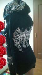 used 美品「d.i.a」めちゃトライバル刺繍 袖クシュ�Aパーカーminiワンピ