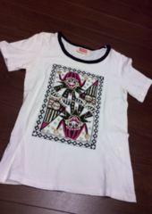 マルコマルカ/ピエロトランププリントTシャツ/M