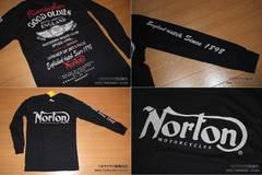 ノートン(NORTON)バイカー系ロングTシャツ Mサイズ 入荷�I