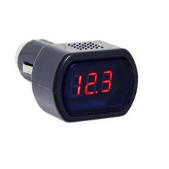 【送料無】デジタル表示 電圧計 ボルテージメーター 赤