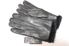 Gudergioves暖か!ライナー総リアルファーイタリア製手袋黒24