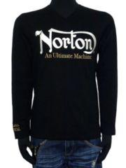 新品正規NortonスパンテレコVネックロンT刺繍アメカジ