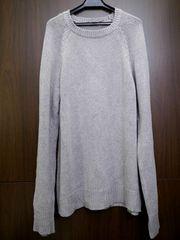 美品◆アレキサンダーワン シルクxコットン ニット セーター灰