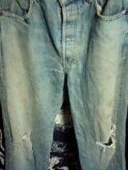 リーバイス503BビッグE色落ちダメージジーンズ
