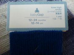 新品未使用未開封タグ付靴下ニ-ハイソックス12-24month12-14�pベビ-GAP