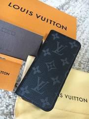 ルイヴィトン本物 iPhone7 モノグラム エクリプス フォリオ 美品