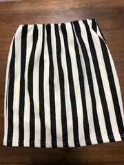 新品同様★tricolour ストライプ ミニタイトスカート