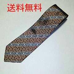 送料無料 日本製 葉っぱ柄 シルク100% ネクタイ 送料込み
