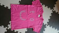 オーガニックコットン100% Tシャツ 半袖 ピンク xs