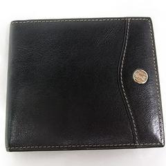 1円~◆本物確実正規ゴールドファイル本革レザー製2つ折り札入れ財布