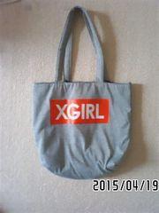 非売品付録・X-GIRLコラボ・ロゴ&アップル柄トートバッグ