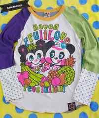 新品同様【ラブレボLOVEREVOLUTION】160~170cmフルーツミックスロングTシャツ