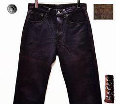 W31 廃盤・米国製リーバイス501カラージーンズ紫・股下77cm