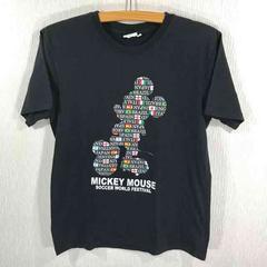 レア ミッキー サッカーワールドフェスティバル Tシャツ 黒 L