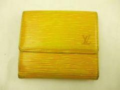 鑑定済み正規本物ルイヴィトンエピWホック財布黄色