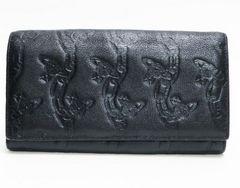 ヴィヴィアンウエストウッド二つ折り長財布 黒 良品 正規品