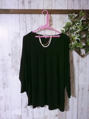 極美*とろみ素材ドルマンPO*黒*3L4L5L*大きいサイズ秋服