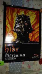 hide◆HIDE YOUR FACE 告知ポスタ-◆1993年◆X JAPAN◆