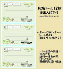 *得◆Z-218◆ネコ.鳥*宛名シール…12枚♪