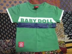 キッズ☆BABY DOLL/ベビードール グリーンTシャツ 80�p