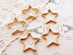 星レジン枠空枠2個ゴールド