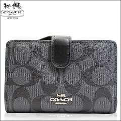 COACH F23553 svdk6 二つ折り財布 シグネチャー PVC BK