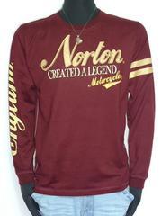 新品正規ノートンNortonフェイクスウェードロンTワインL33N1102