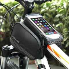 送料無自転車スマートフォンケースフレームバッグbike-MPbag7-B