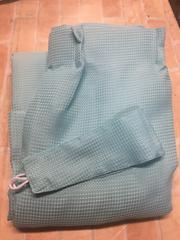 新品☆幅200×丈200�p1枚遮光なしカーテン水色ブルー☆s195